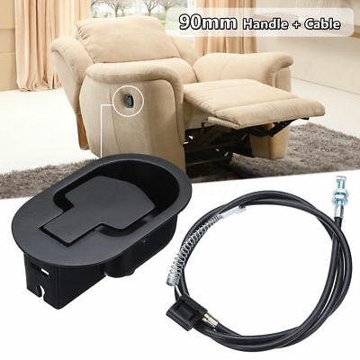 Durable Recliner Sofa Couch Chair Release Lever Replacement Metal Handle + Cable