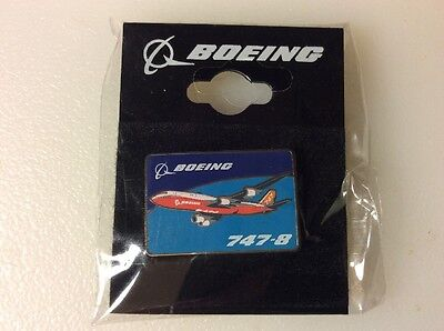 BOEING 747 PILOT Wings Gold Colored Aircraft Plane Lapel Pin