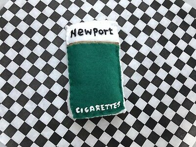 Lucy Sparrow Mart NEWPORTS Cigarettes signed Original SOLD OUT. Rare Pop art