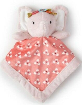So Cute Levtex Baby Girl's Elephant Security Blanket. Pink And Coral.