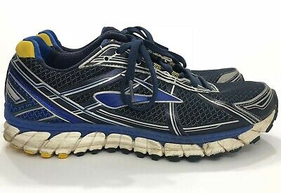 85579d73429ab BROOKS DEFYANCE 9 Blue Gray Yellow Running Shoes Men sz 8 D SH ...