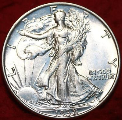 Uncirculated 1938 Philadelphia Mint Silver Walking Liberty Half