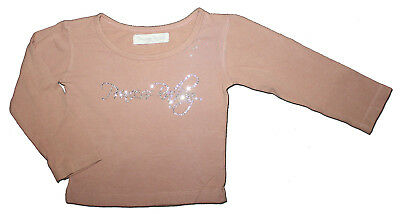 PRINCESS RATBAG Size 12 months Dusky Pink BLING Diamante Top