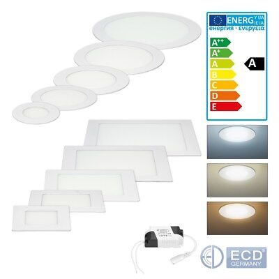LED recessed lighting panel ceiling down light ultraslim downlights round square