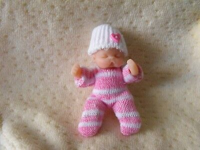 OOAK  dollhouse miniature  6 cm  jointed  polymer clay baby doll  by Harry