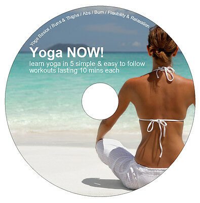 Learn Yoga NOW! DVD 5 Exercise Workouts - Weight Loss - Flexibility & Relaxation