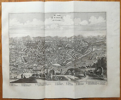Dapper Large Original Town View of Cairo - 1686