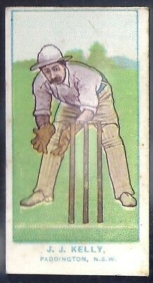 Wills-Australian Club Cricket Blue Back (With State)- Kelly - Paddington Nsw