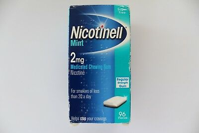 Nicotinell Mint 2mg Regular Strength Medicated Chewing Gum - 96 Pieces