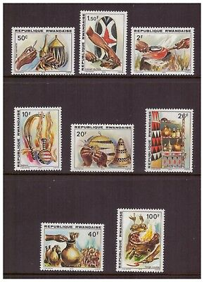 Rwanda MNH 1979 Art,Handicrafts mint set stamps