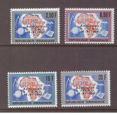 Rwanda MNH 1963 Admission to U.N. set mint stamps