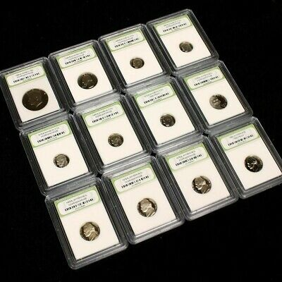 USA Proof Coin Dealer Lot. 12 Slabbed Proof Coins - No Pennies FREE SHIPPING