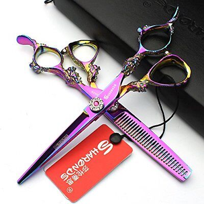 herramientas de estilo de pelo Barber Shears High Quality Salon 6 pu(2pcs)