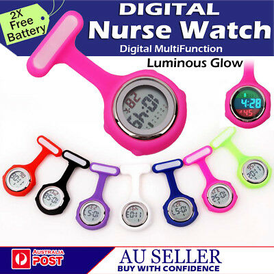 Electric Digital Multi-Function Medical Nurse Brooch Pendant Pocket Fob Watch