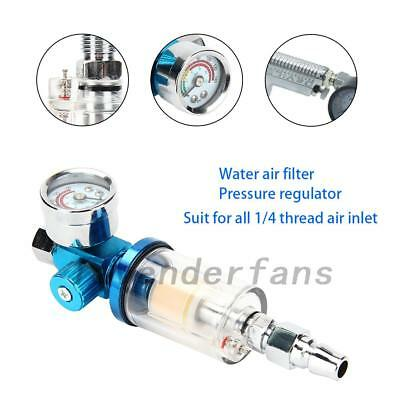 Mini Air Pressure Regulator Gauge Spray Gun & In-Line Water Trap Air Filter Tool