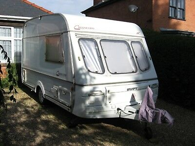 Two Berth Swift Cappuccino Touring Caravan Plus Full-Size Awning