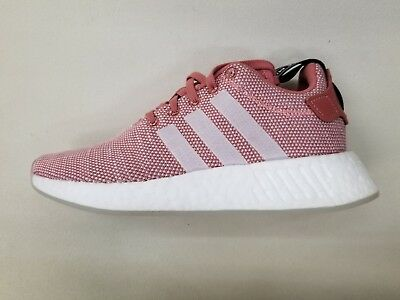8f76933051147 Adidas Originals Nmd R2 Boost Pink White Black Womens Size Sneakers Cq2007