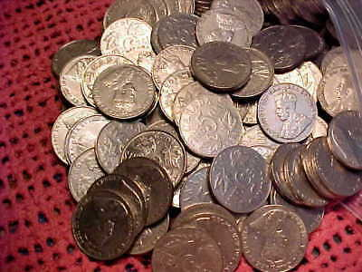 Large Bulk Lot of Canadian Nickels 1922-1936--80 coins