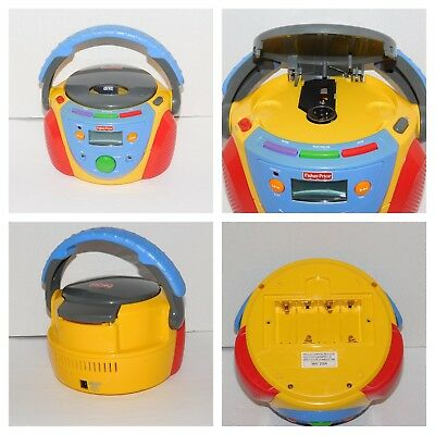 Fisher Price Portable Disc CD Player Tuff Stuff Kid Tough Stereo Works See Video