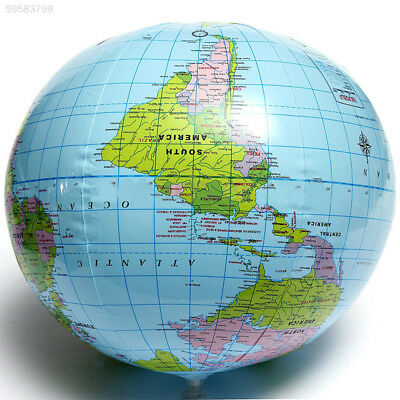C81B Inflatable Globe Earth Map Geography Teacher Aid Beach Ball Toy Xmas 30cm*