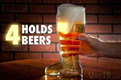Das Boot Giant Boot shape Cup Beer heavy clear Glass vase mug decoration