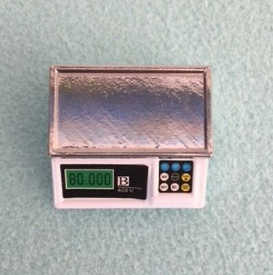Dolls House Miniature 1/12th Scale Metal Weighing Scales, Shop,Cafe or Kitchen