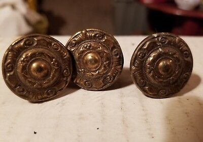 Vintage cast iron cabinet drawer door Furniture knobs handles pull rustic 3 pcs