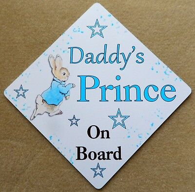 Other Baby Safety & Health Hearty Handmade Grandads Little Prince Baby On Board Car Sign Special Buy