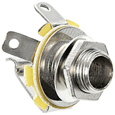 Metal Guitar Electric Replacement Mono Input or Output Jack Socket 6.35mm 1/4 CQ