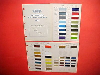 1971 Chrysler Plymouth Dodge Challenger Charger Exterior + Interior Paint Chips
