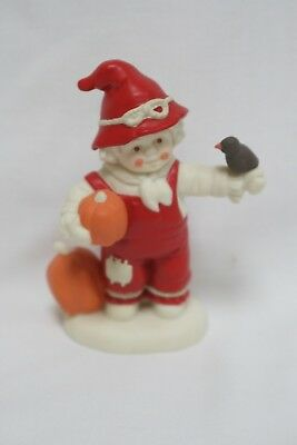 Dept. 56 Snowbabies on the Farm Don't Be Scared, Crow