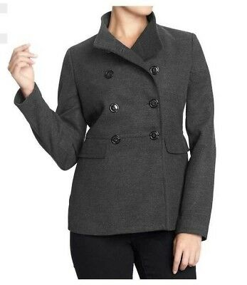 4992d4dd57143 New Old Navy Womens Xs S Xxl Charcoal Gray Cropped Peacoat Pea Coat Jacket