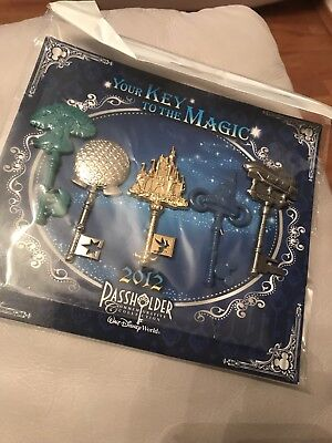 Disney Trading Pins Annual Passholder Your Key To The Magic Set 2012