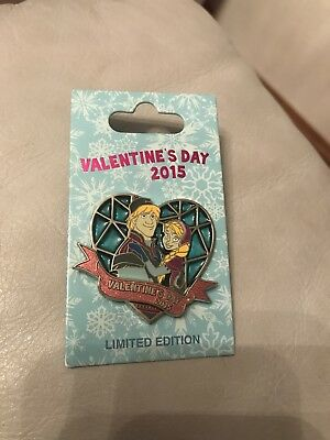 Disney Trading Pin Valentines Day 2015 Limited Edition Anna And Christoph