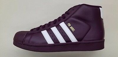 new style f22d7 40e77 Adidas Originals Pro Model Wine Red White Gold Mens Size Sneakers Ac7646