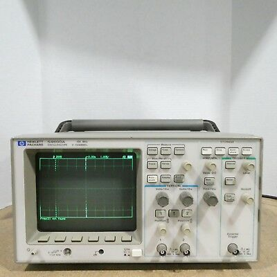 Tested Hewlett Packard HP 54600A 100MHz 2 Channel Oscilloscope With Power Cord