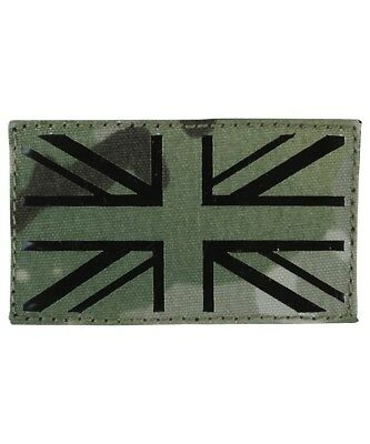 Multicam Union Jack Lazer Cut Moral Patch Hook & Loop backing MTP Army Airsoft