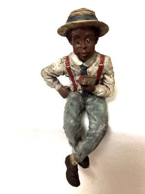1990 HARPSTER Sarah's Attic Resin Figurine LTD Edition  man with harp