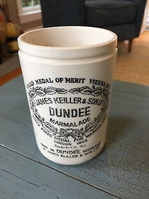Dundee Marmalade Crock James Keiller And Son England Jar Antique