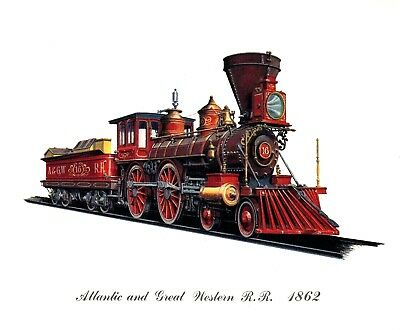 A Set of Three Cities Service Steam Locomotive Prints Suitable for framing st 1