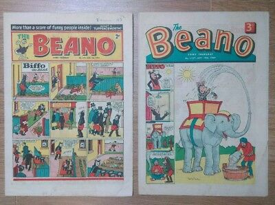 The BEANO comic 1st August 1953 no.576 + 19th September 1964 no.1157