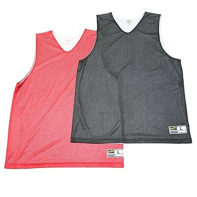 2c3e01bf4a56f0 Lot of 2 Eastbay Mens Large Red Black Reversible Basketball Sport Jersey