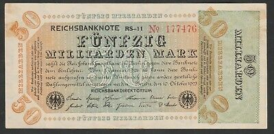 50 Milliarden Mark From Germany 1923 Strong VF