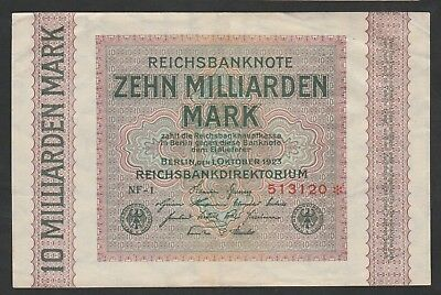 10 Milliarden Mark From Germany 1923