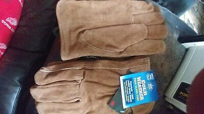 West Chester 2 Pair Leather Gloves Mens Large Cold Weather tan very nice!