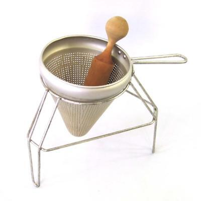 Vintage Ricer Sieve Food Mill Colander Strainer with Stand and Masher