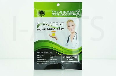 1x Pack Easy One Step Kit For Home Drug Test 10x Panel Test Card Disposable Cup