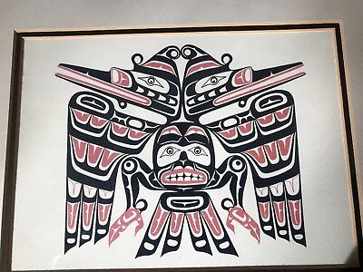 Pacific Northwest art Kwaguilth Cannibal Bird By Jim Johnny