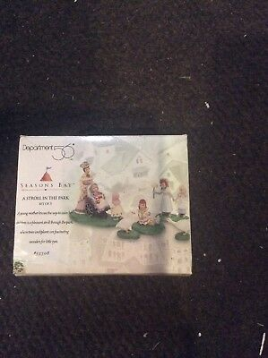 """Dept 56 """"A STROLL IN THE PARK SET 5"""" Season's Bay Accessories #53308"""