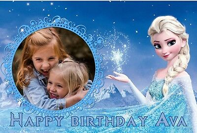 Frozen Edible Personalised Cake Topper Photo Icing Cake A4 Image birthday Party
